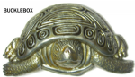 Tortoise Belt Buckle + display stand. Code AG6